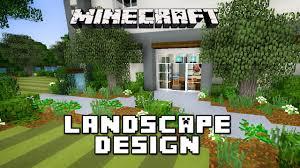 Small Picture Minecraft Tutorial Garden Landscape Design Modern House Build Ep
