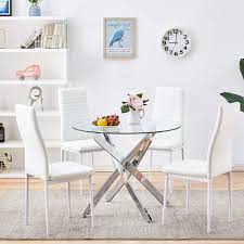 Sicotas 5 Piece Round Dining Table Setmodern Kitchen Table And