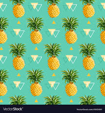 Pineapple Pattern Unique Geometric Pineapple Background Seamless Pattern Vector Image