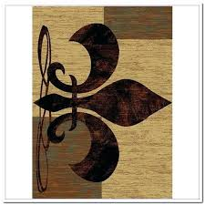 fleur de lis area rug awesome kitchen rugs curtain image gallery throughout attractive wool