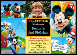 Mickey Mouse Birthday Invitation Template - April.onthemarch.co