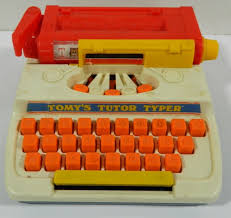 Tomy tutor typer vintage toy