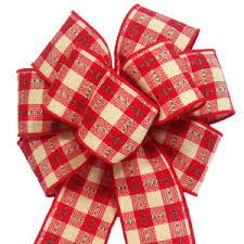 Plaid Bows - Christmas Plaid Bows -Handmade Plaid Bows for Christmas