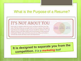 What Your Resume Should Look Like In 2017 What Is The Purpose Of A