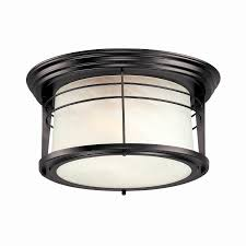 idea flush mount motion sensor outdoor light for degree matte black