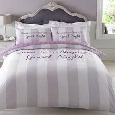 dreamscene sweet dreams duvet cover with pillowcase stripe bedding grey sets king size dream pin uk
