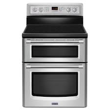 maytag maytaggemini reg 6 7 total cu ft double oven self clean convection ceramic range