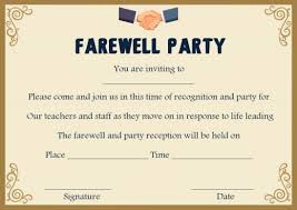 Invitation Cards For Farewell Party Farewell Party Invitation Template 23 Custom Party Invitation