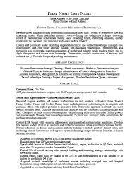 Sale Representative Resume Emelcotest Com