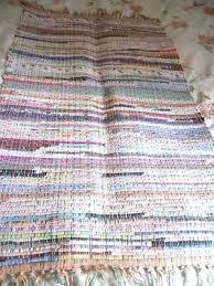 rag rug runner vintage hand made woven rag rug runner cotton material rag rug runner