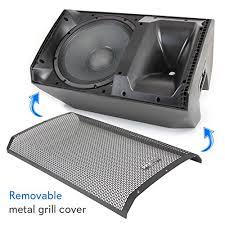 bluetooth pa monitor speaker system 1400 watt max 2 way indoor outdoor stage loudspeaker w