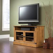 Sauder Tv Cabinet Sauder Registry Row Panel Tv Stand In Amber Pine Walmartcom