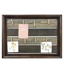 dark wood plank collage frame with rope 8 clips 21 75 u0027 u0027x15