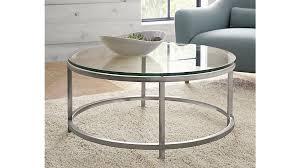 coffee table mesmerizing silver round modern glass iron round glass coffee table depressed ideas