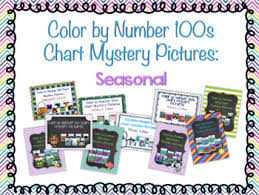 Seasonal Color Chart Color By Number 100 Chart Mystery Pictures Seasonal