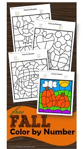 While your child is busy by coloring drawings you can do your here you can find coloring pages for different topics: Free Fall Color By Number Worksheets