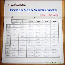 Etre Verb Chart French Verb Worksheets