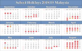 Calendar 2019 Printable With Holidays Calendar 2019 Printable With Malaysia Holidays With Free Yearly