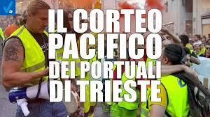 I portuali di Trieste e il corteo pacifico che non piace al mainstream -  Visione TV