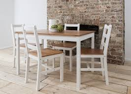 dining table 4 chairs annika in white and natural pine natural pine white co uk kitchen home