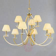 gold plated chandelier avala with nine lampshades 7255241 31