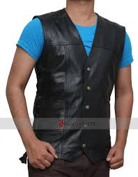 walking dead daryl dixon leather vest