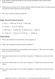 model balanced chemical equations a zn s 2 hcl aq