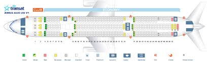 Air Transat A330 Seating Chart Us Airways Airbus Jet Seating