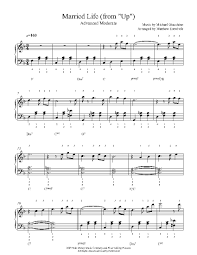 The Light Of That City Sheet Music Married Life By Michael Giacchino Piano Sheet Music