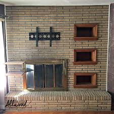 painting brick whitepaint fireplace brick