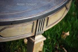 zle design antique round coffee table with old world