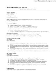 medical administration resume medical administration cover letter collection of solutions