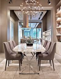 ... Dining Room Ideas, Enchanting Gray Rectangle Modern Glass Elegant  Dining Rooms Varnished Design With Chairs ...
