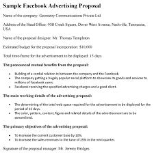 Advertising Proposal Template Word Facebook Advertising Proposal
