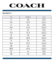 Coach Sneakers Size Chart 45 Expository Coach Womens Shoes Size Chart