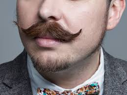 Moustached man with bowtie representing #movember foundation page