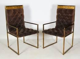 extraordinary and very rare set of six decorative modern dining chairs by bernhard rohne for mastercraft