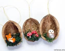 Pilz Weihnachten Ornamente Nussbaum Muschel Ornament