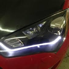 HID Model+LED Bar]For 2013 2014 2015 Hyundai Genesis Coupe Black ...
