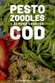 Pesto Zucchini Recipe with Cod - The ...