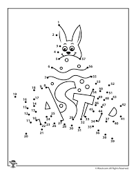 Easter Dot To Exceptional Religious Coloring Pages Printables 1 50