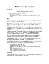 5th grade book report template
