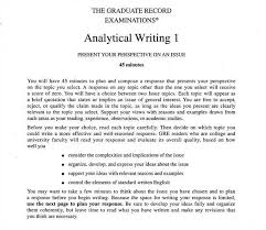 gre essays examples gre analytical writing writing the issue  gre essay examples 6