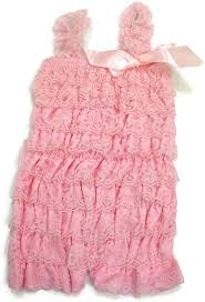 Light Pink Romper Lace Romper For Babies And Girls Light Pink
