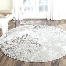collection silver and ivory contemporary glam damask round area rug 6 diameter safavieh adirondack adr108b oriental collection grey and black oriental
