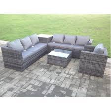 corner rattan sofa set table chair