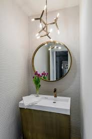 powder room lighting. Dallas Filament Bulb Chandelier With Contemporary Bathroom Mirrors Powder Room And Pendant Light Round Mirror Lighting S