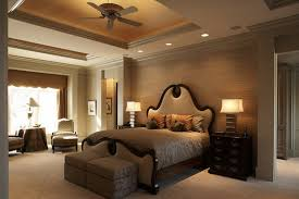 neutral wall color ideas for formal bedroom decorating with simple ceiling fan