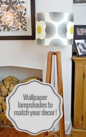 how to wallpaper furniture. How To Wallpaper Your Lampshades So That They Match Decor Furniture