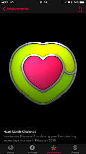 how to get every apple watch activity achievement badge heart month challenge